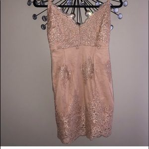 💋Lace Nude Dress -NWT